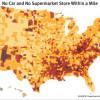 미국의 음식 사막 지도